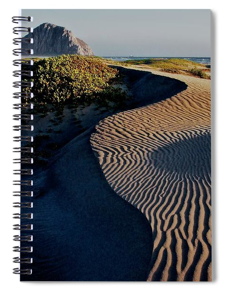 Nature Spiral Notebook featuring the photograph Morro Strand State Beach, California by Zayne Diamond Photographic