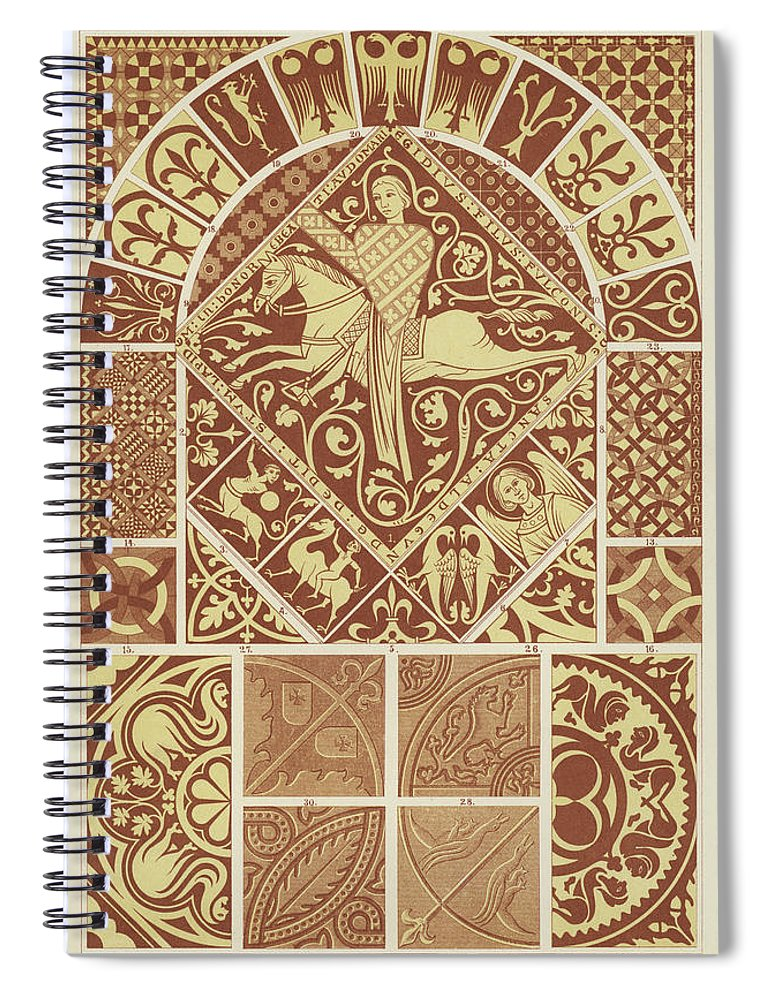 Mosaic Patterns From The Middle Ages Spiral Notebook for Sale by ...