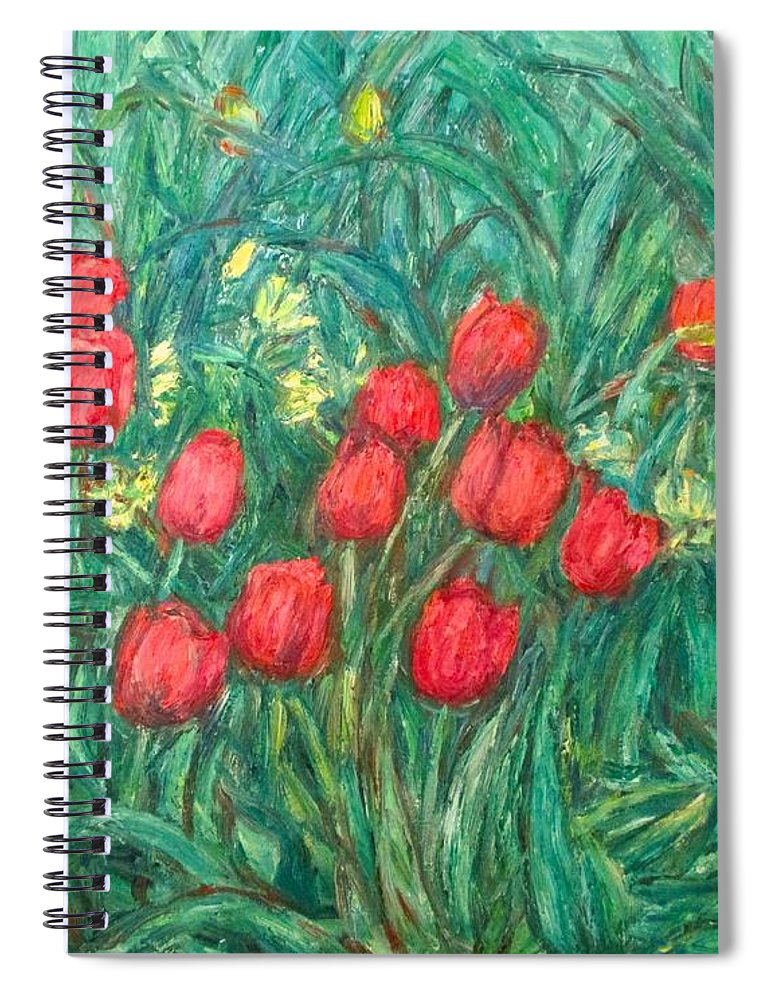 Kendall Kessler Spiral Notebook featuring the painting Mostly Tulips by Kendall Kessler