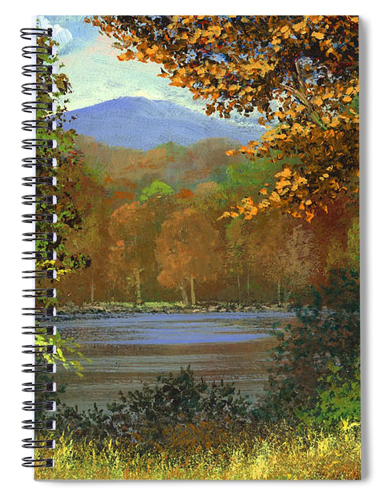 Landscape Spiral Notebook featuring the painting Mountain Pond by Frank Wilson