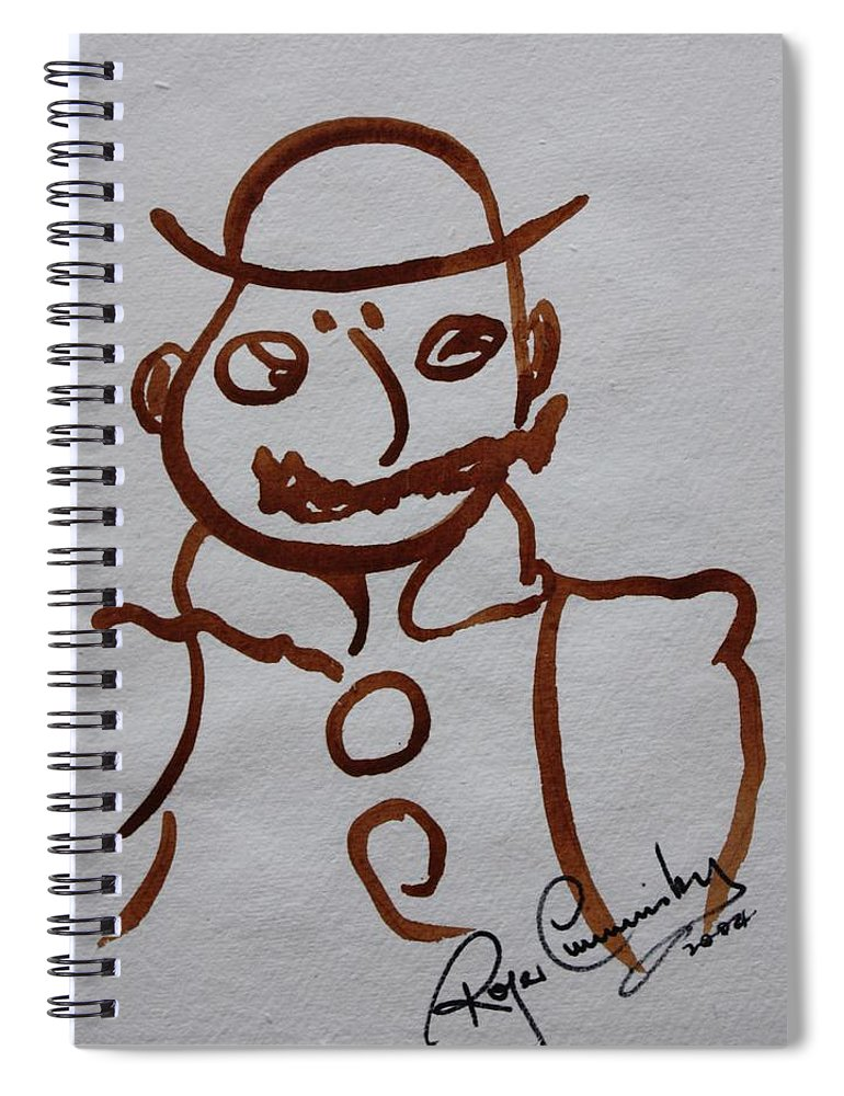 James Joyce Ulysses Spiral Notebook featuring the painting Mr Leopold Bloom by Roger Cummiskey