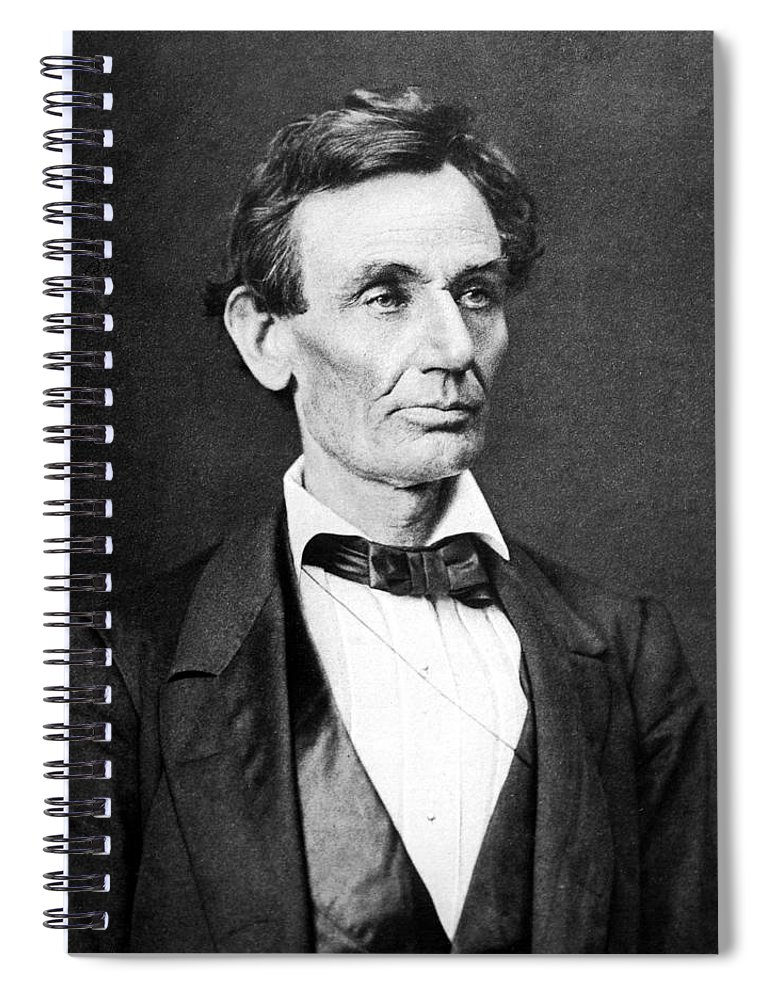 Abraham Lincoln Spiral Notebook featuring the photograph Mr. Lincoln by War Is Hell Store
