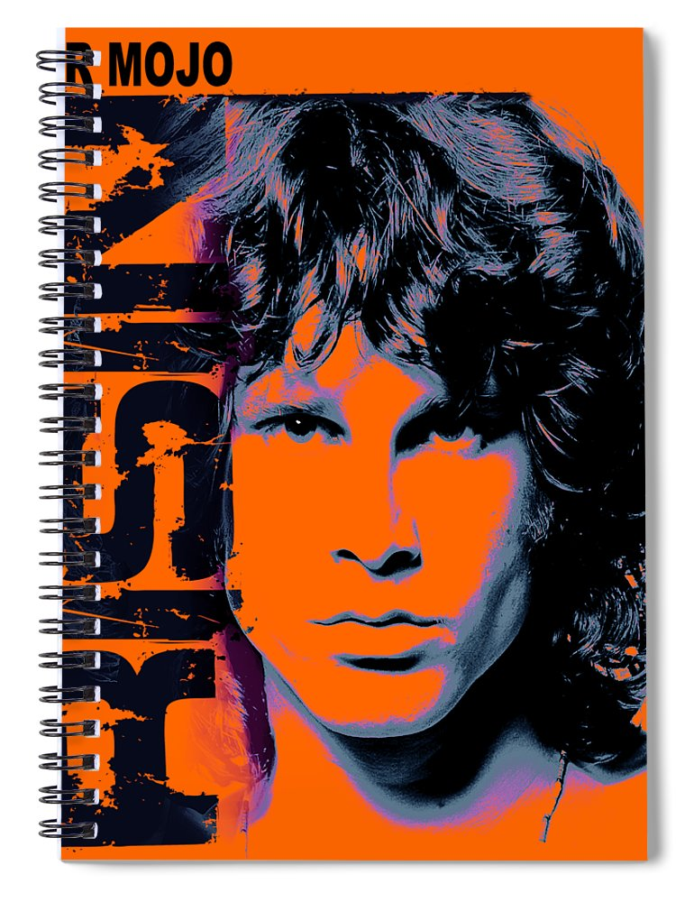 The Doors Spiral Notebook featuring the digital art Mr Mojo Risin by Mal Bray