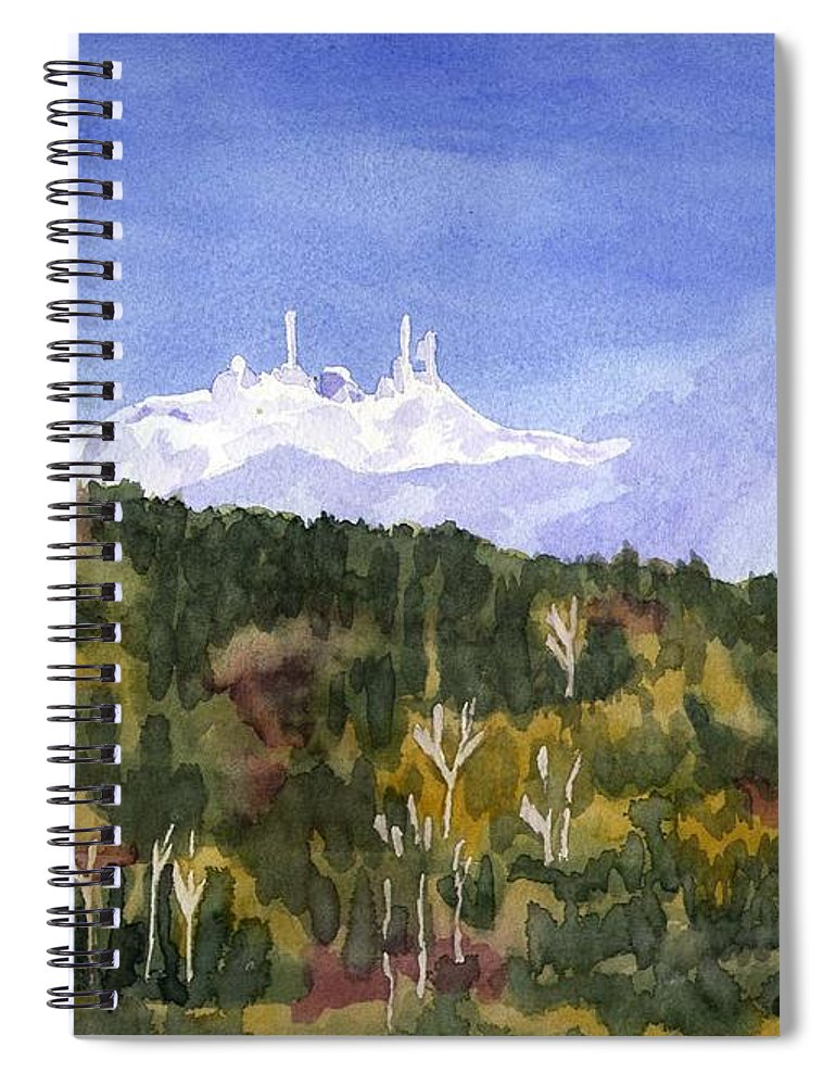 Landscape Spiral Notebook featuring the painting Almost Mystical by Sharon E Allen