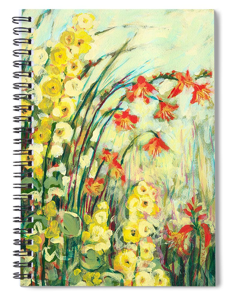 Impressionist Spiral Notebook featuring the painting My Secret Garden by Jennifer Lommers
