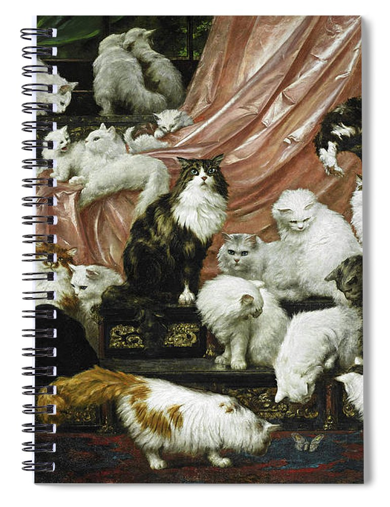 Carl Kahler Spiral Notebook featuring the painting My Wife's Lovers by Carl Kahler