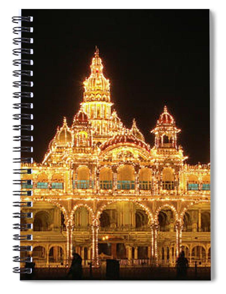 Mysore Spiral Notebook featuring the photograph Mysore Palace by Sandeep Gangadharan