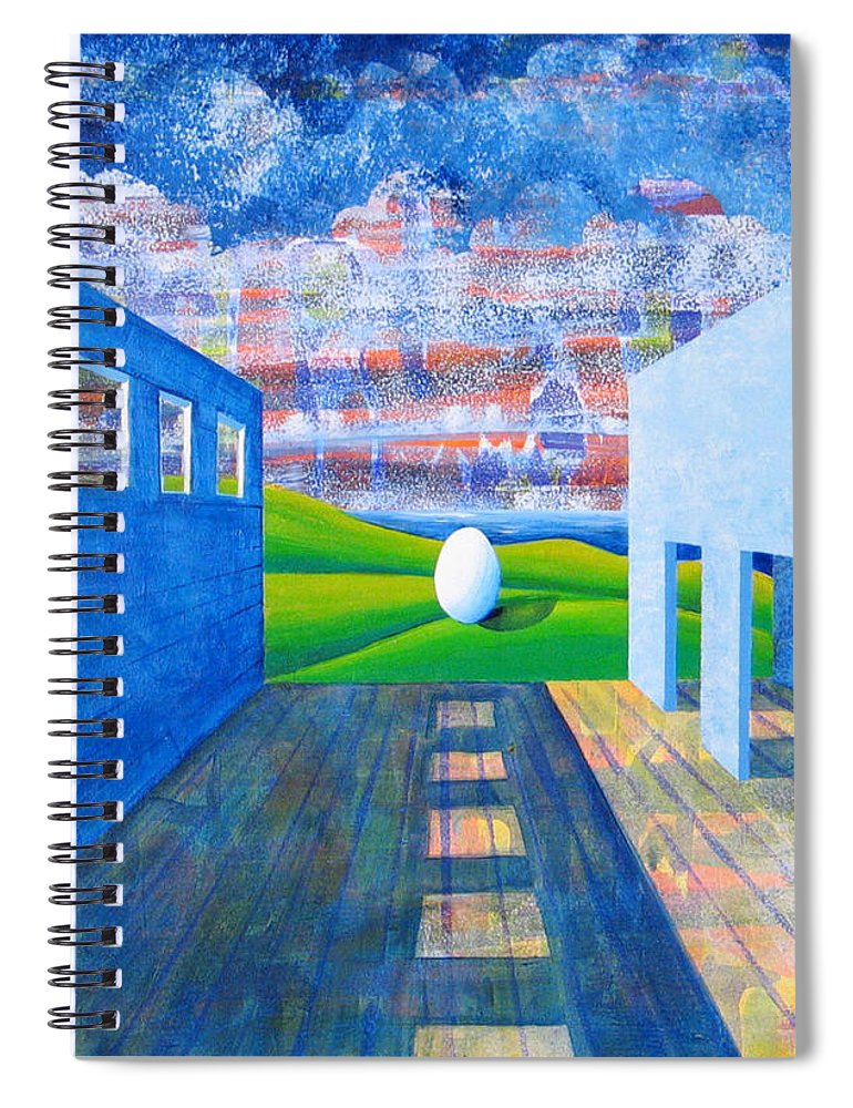 Surrealism Spiral Notebook featuring the painting Mystery And Memory by Rollin Kocsis