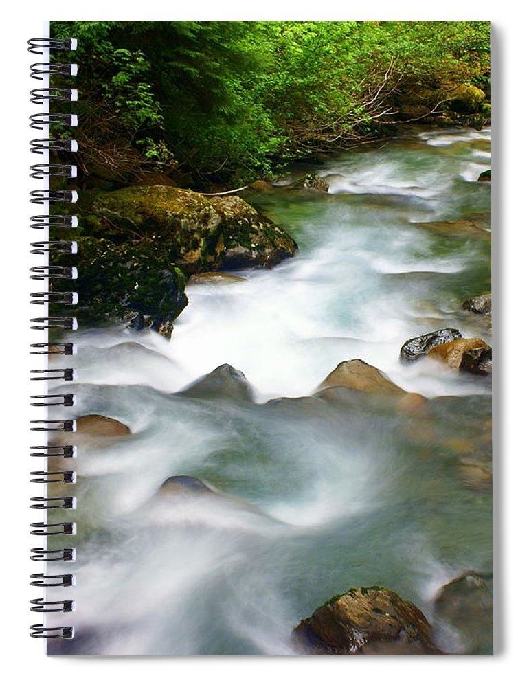 Creek Spiral Notebook featuring the photograph Mystic Creek by Marty Koch
