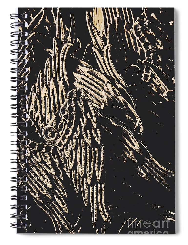 Antique Spiral Notebook featuring the photograph Mythical Angels From History Past by Jorgo Photography - Wall Art Gallery