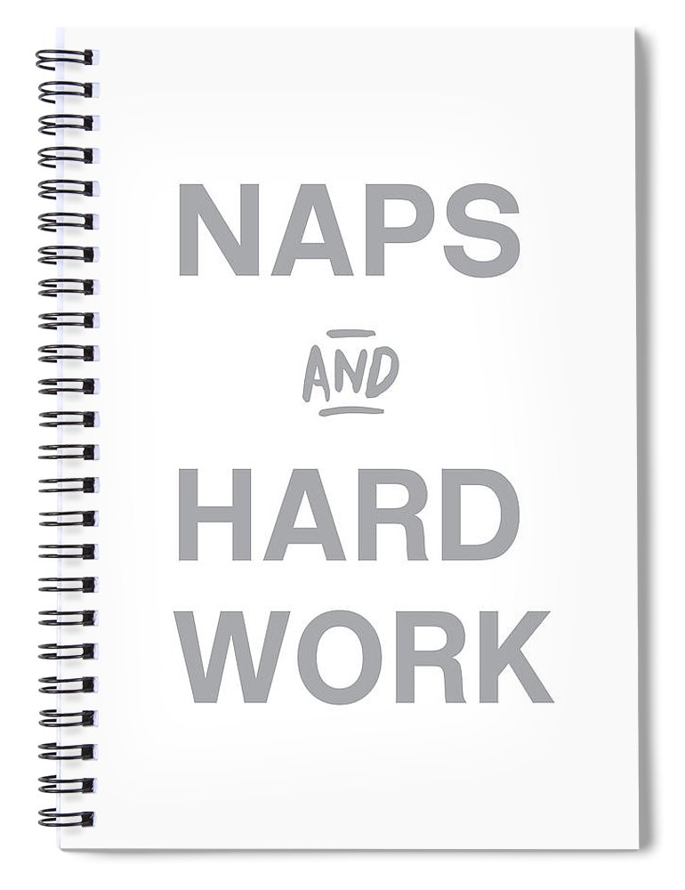 Naps Spiral Notebook featuring the digital art Naps And Hard Work- Art by Linda Woods by Linda Woods