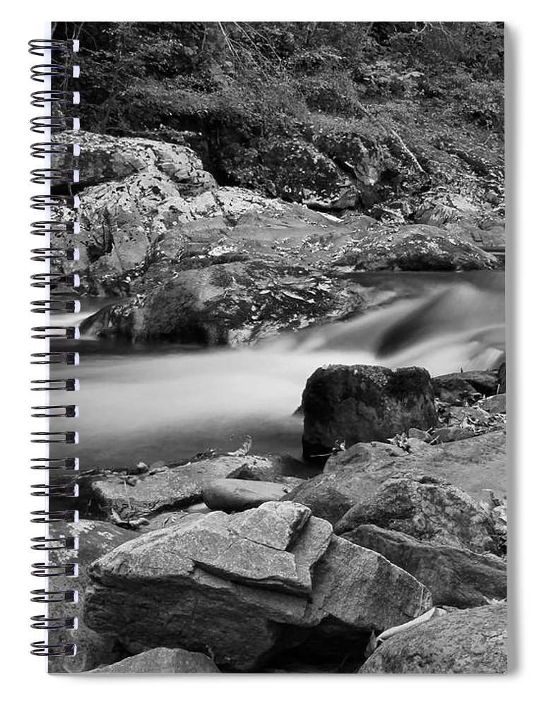 Natural Contrast Black And White Spiral Notebook featuring the photograph Natural Contrast Black And White by Dan Sproul