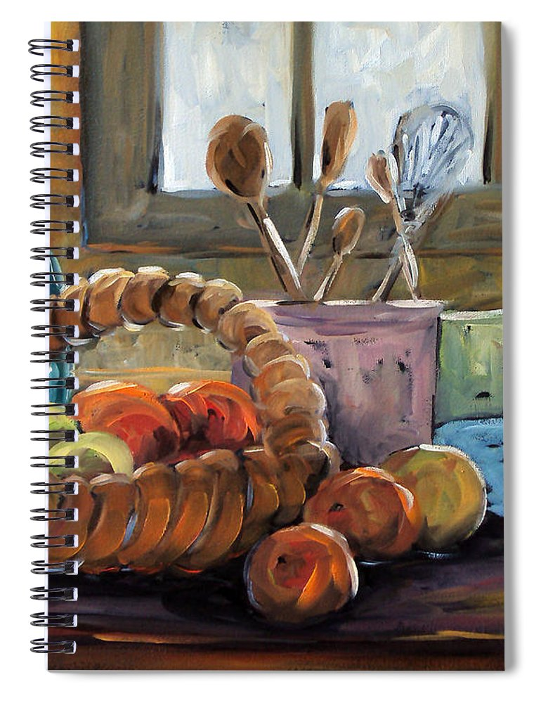 Art Spiral Notebook featuring the painting Nature Morte by Richard T Pranke
