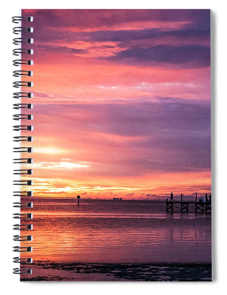 Sunset Spiral Notebook featuring the photograph Nature's Palette by Norman Johnson