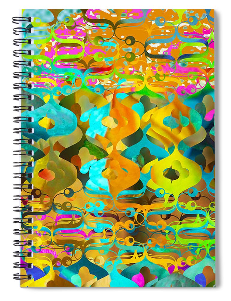 Abstract Spiral Notebook featuring the digital art Nemo by Ceil Diskin