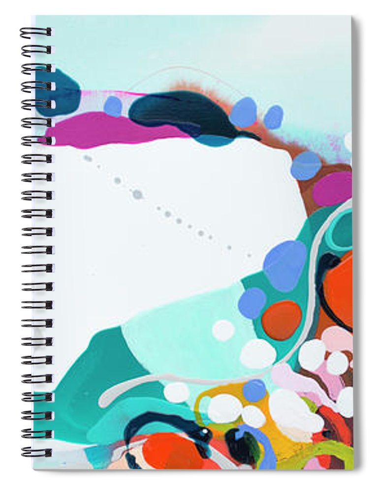 Abstract Spiral Notebook featuring the painting New Ways by Claire Desjardins