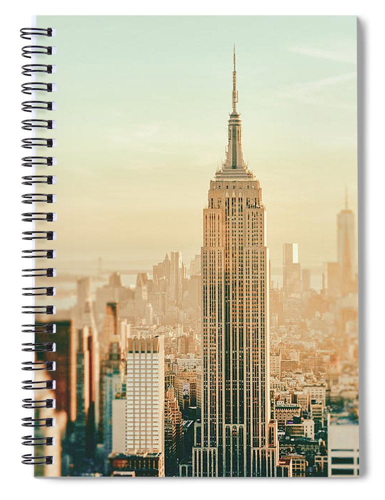 Nyc Spiral Notebook featuring the photograph New York City - Skyline Dream by Vivienne Gucwa