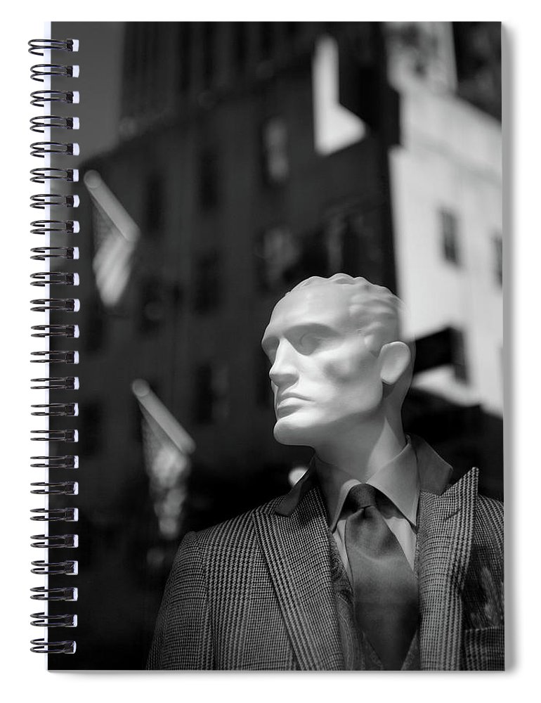 Mannequin Spiral Notebook featuring the photograph New York Style by Dave Bowman