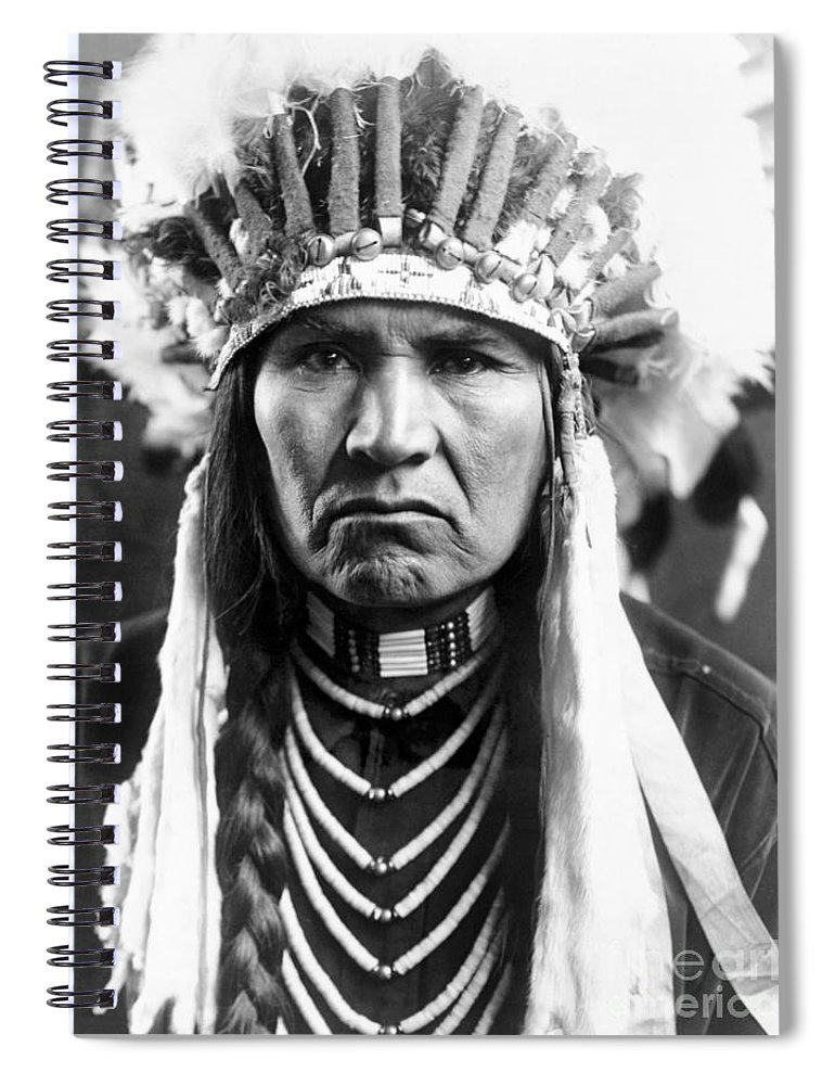 1910 Spiral Notebook featuring the photograph Nez Perce Native American - To License For Professional Use Visit Granger.com by Granger