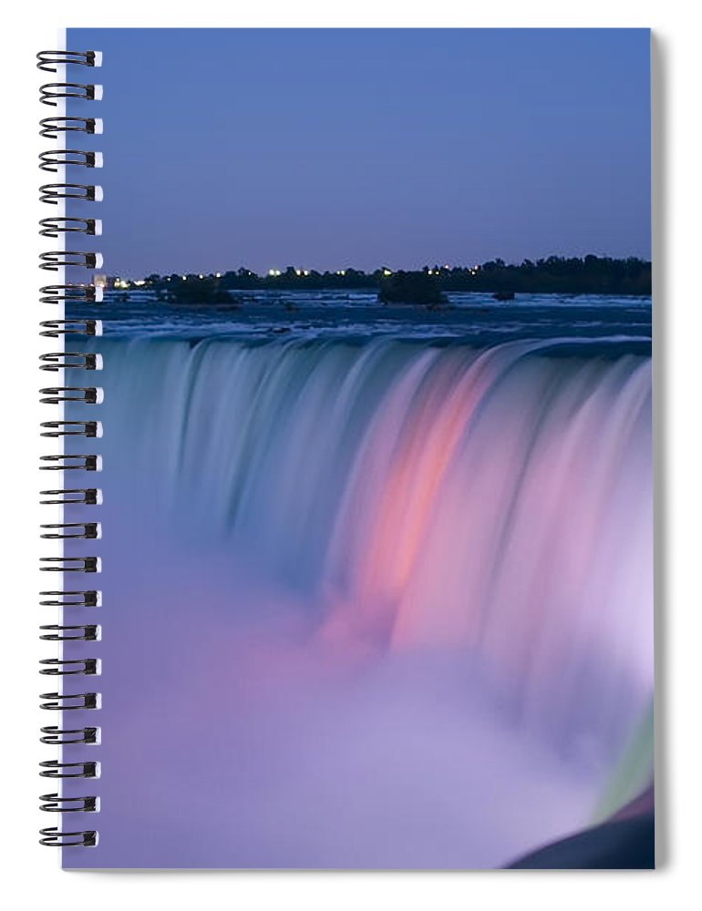 3scape Photos Spiral Notebook featuring the photograph Niagara Falls At Dusk by Adam Romanowicz