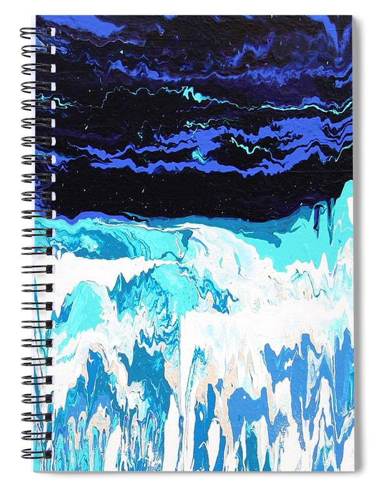 Fusionart Spiral Notebook featuring the painting Niagara by Ralph White
