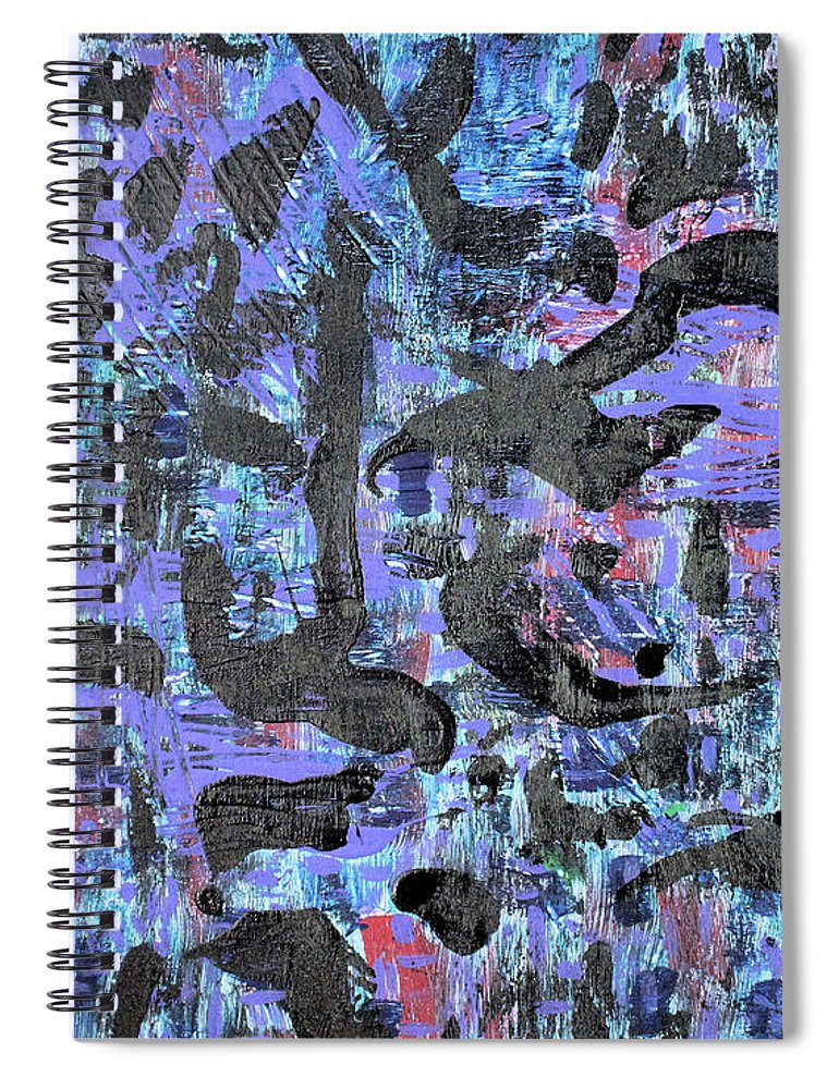 Spiral Notebook featuring the painting Night Flight by Pam Roth O'Mara