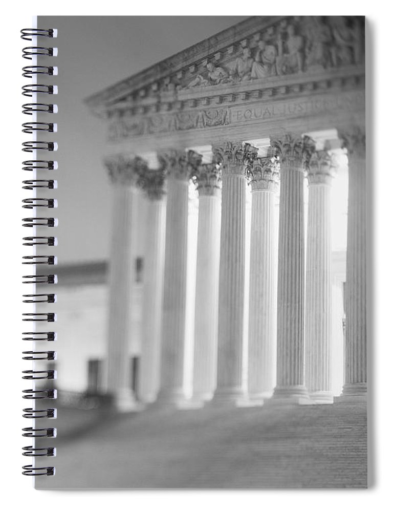 Photography Spiral Notebook featuring the photograph Night Us Supreme Court Washington Dc by Panoramic Images