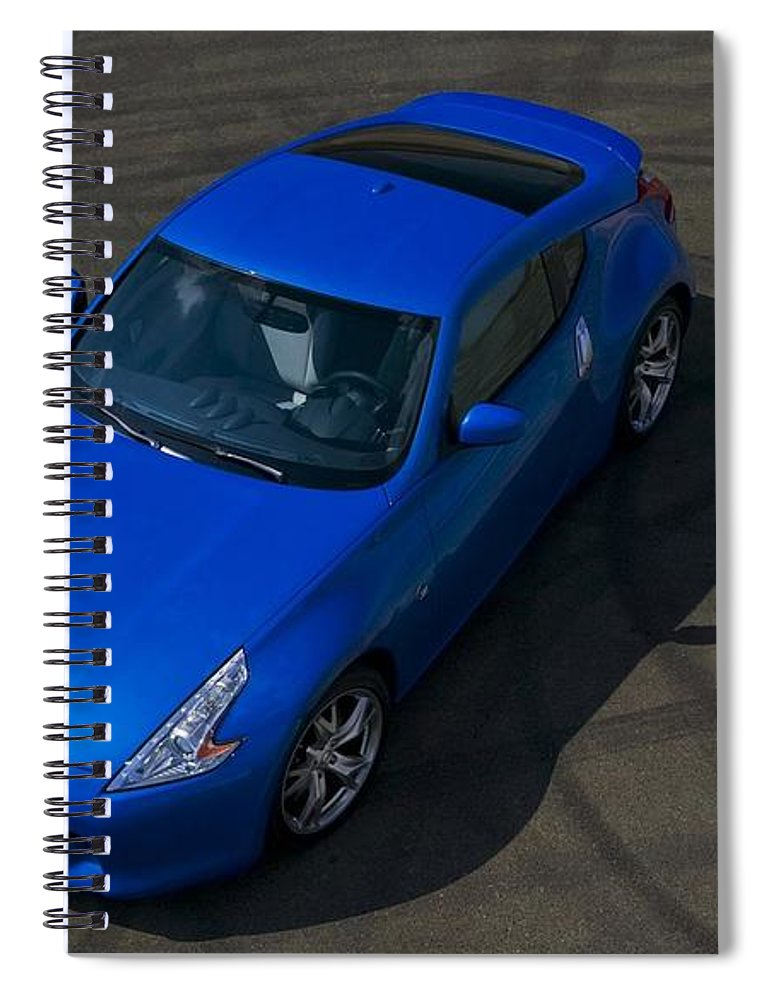 Nissan 370z Coupe 2012 Spiral Notebook featuring the digital art Nissan 370z Coupe 2012 by Mery Moon