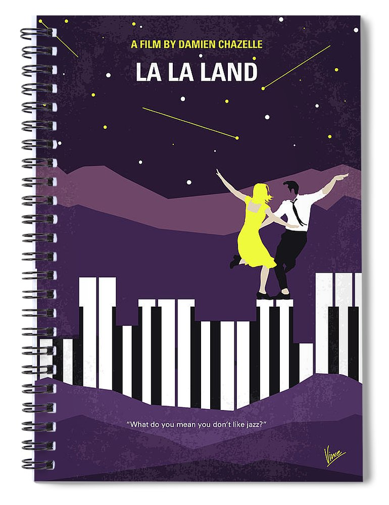 La Spiral Notebook featuring the digital art No756 My La La Land minimal movie poster by Chungkong Art