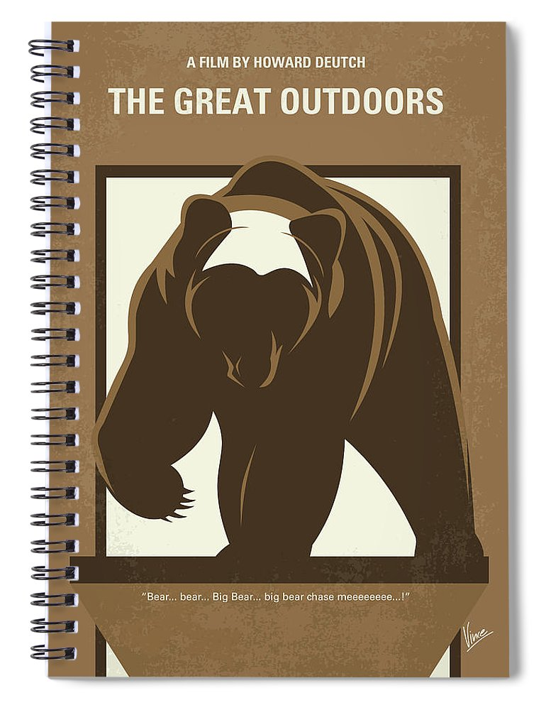 The Spiral Notebook featuring the digital art No824 My The Great Outdoors Minimal Movie Poster by Chungkong Art