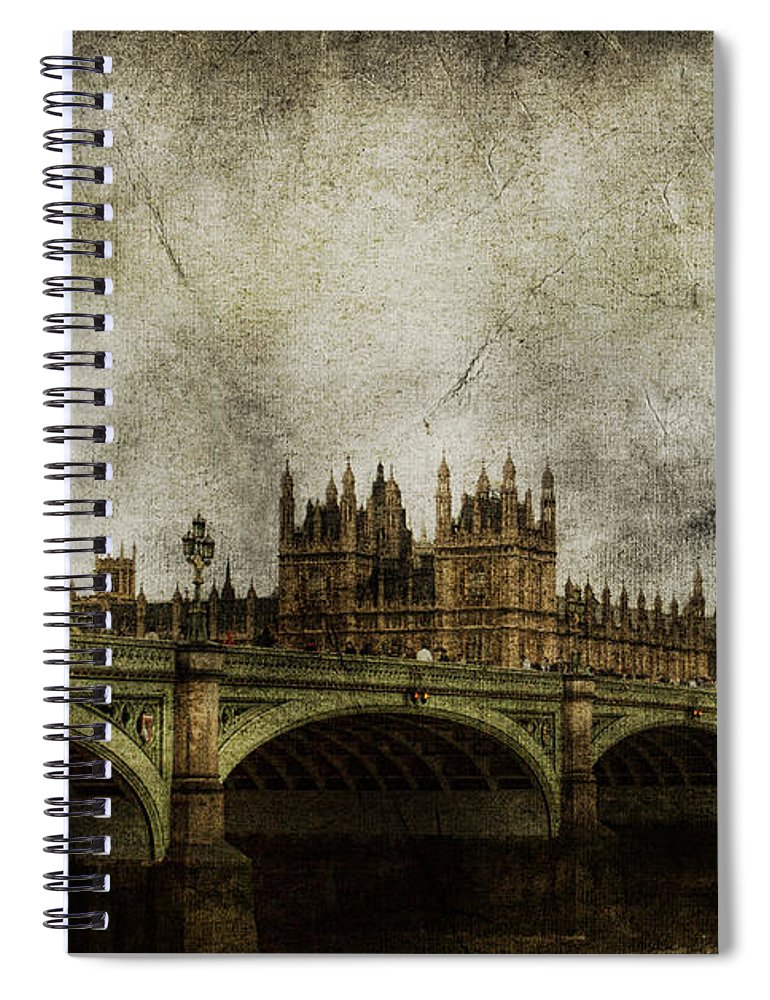 London Spiral Notebook featuring the photograph Noble Attributes by Andrew Paranavitana
