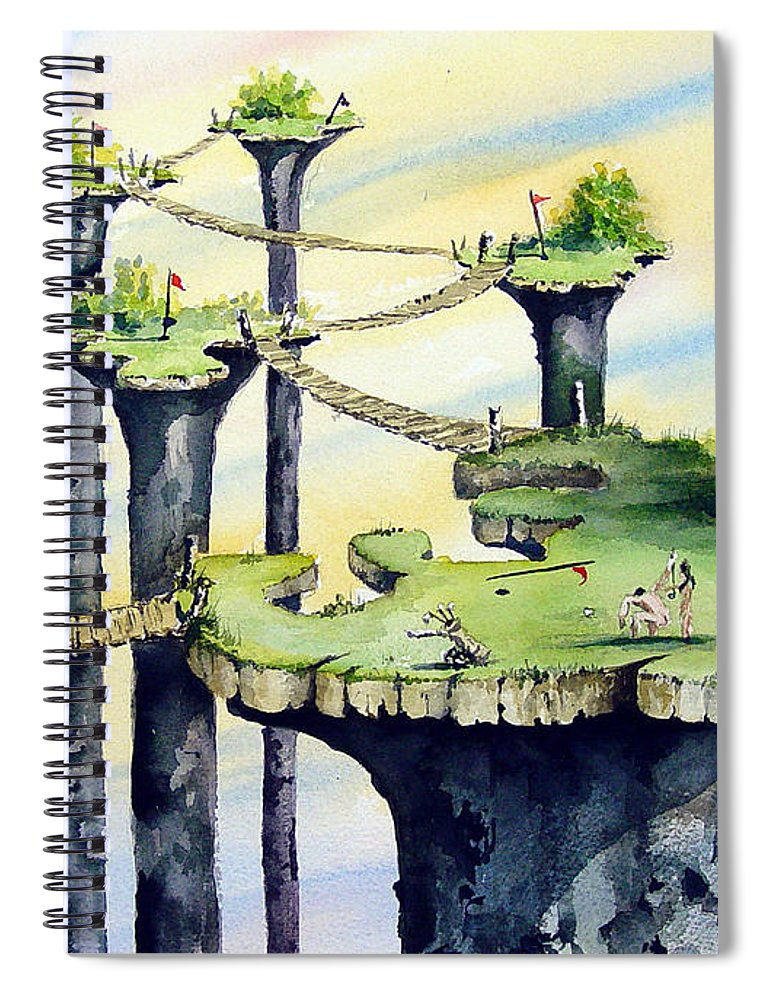 Golf Spiral Notebook featuring the painting Nod Country Club by Sam Sidders