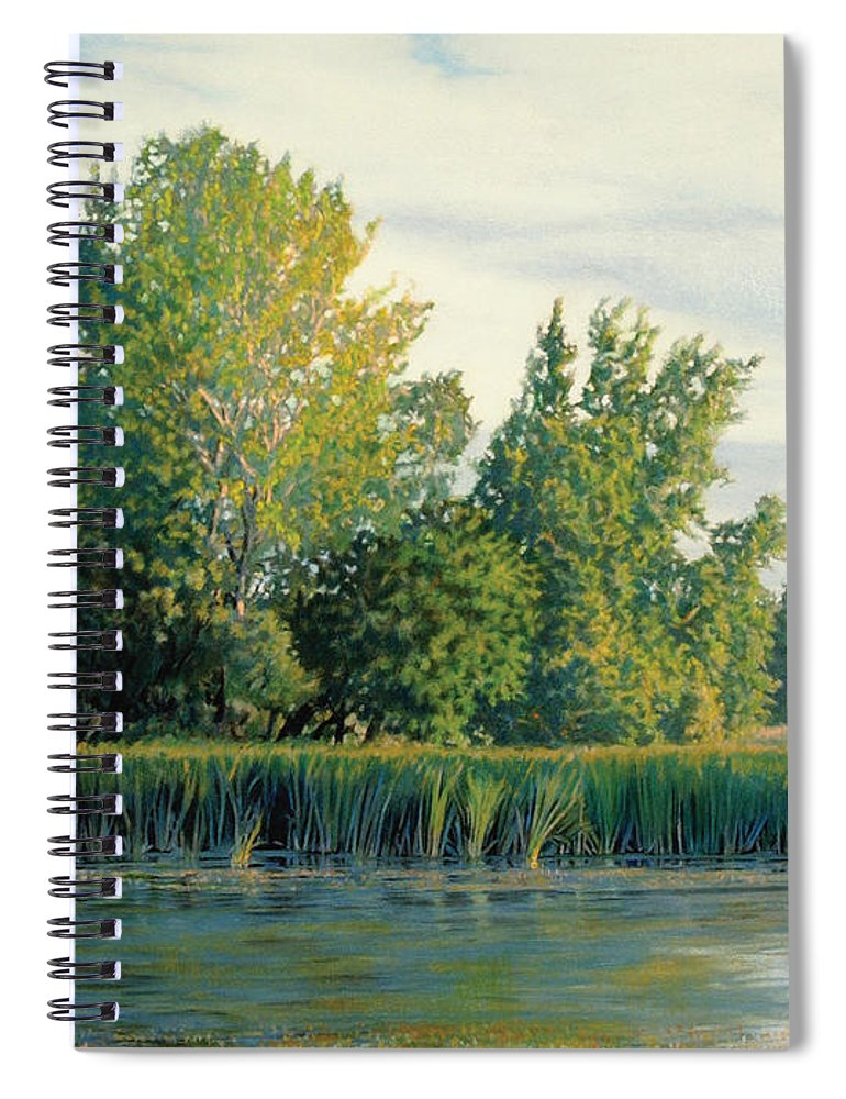 Great Egret Spiral Notebook featuring the drawing North of the Grade-Great Egret by Bruce Morrison