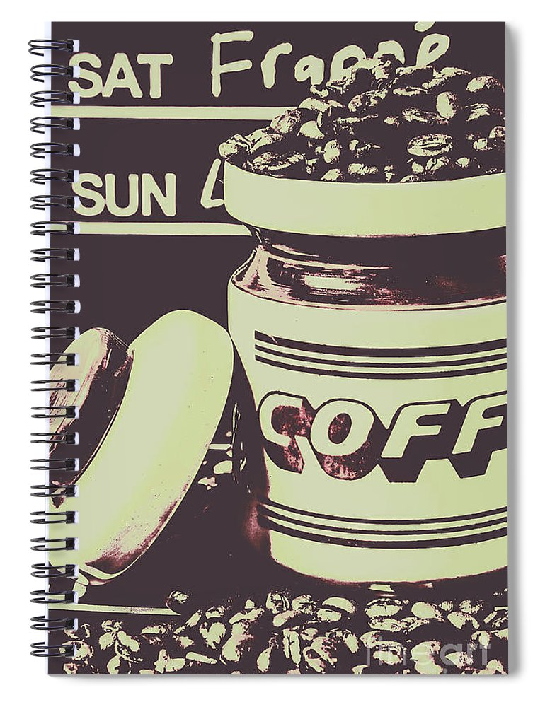 Drink Spiral Notebook featuring the photograph Nostalgic Cafe Art by Jorgo Photography - Wall Art Gallery