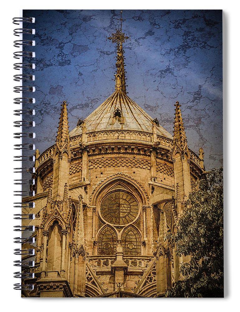 France Spiral Notebook featuring the photograph Paris, France - Notre-dame De Paris - Apse by Mark Forte