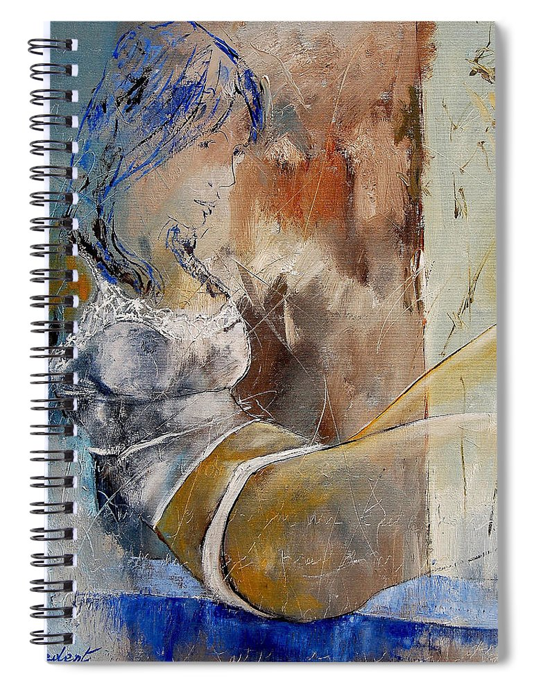 Nude Spiral Notebook featuring the painting Nude 67524236 by Pol Ledent