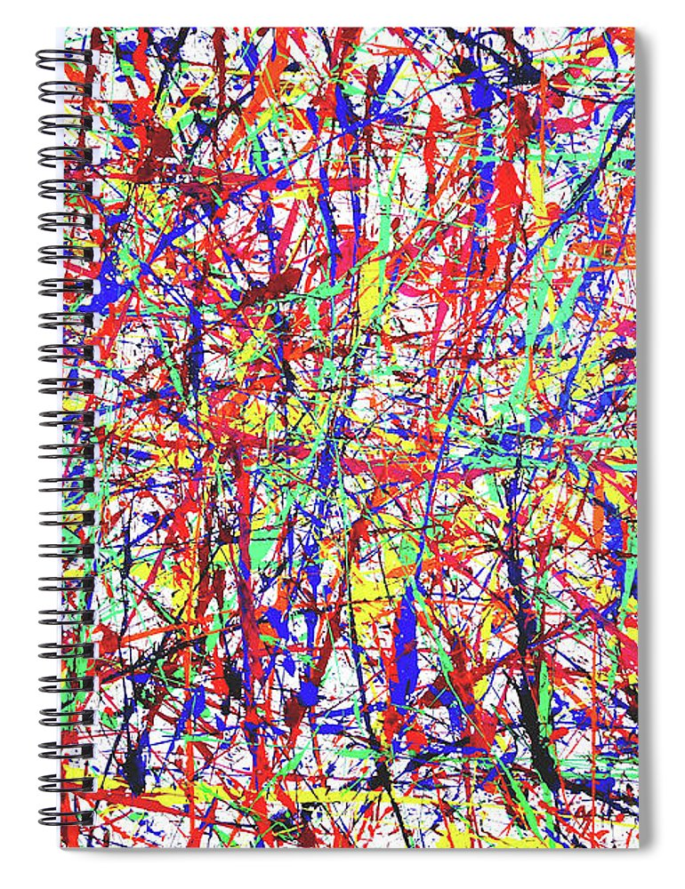 Abstract Expressionism Spiral Notebook featuring the painting Number One by Ducksy