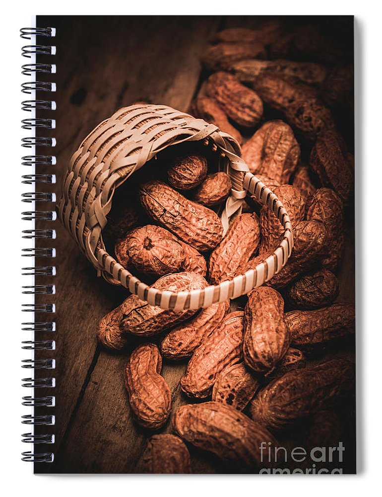 Kitchen Spiral Notebook featuring the photograph Nuts Still Life Food Photography by Jorgo Photography - Wall Art Gallery