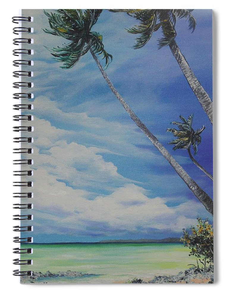 Trinidad And Tobago Seascape Spiral Notebook featuring the painting Nylon Pool Tobago. by Karin Dawn Kelshall- Best