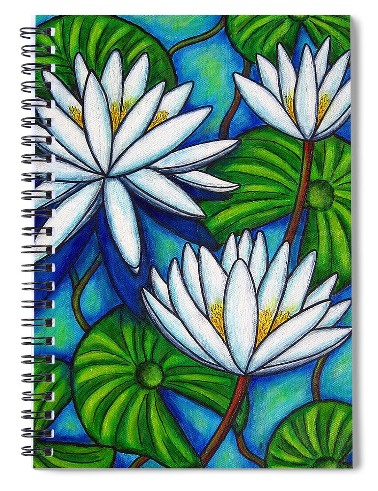 Lily Spiral Notebook featuring the painting Nymphaea Blue by Lisa Lorenz