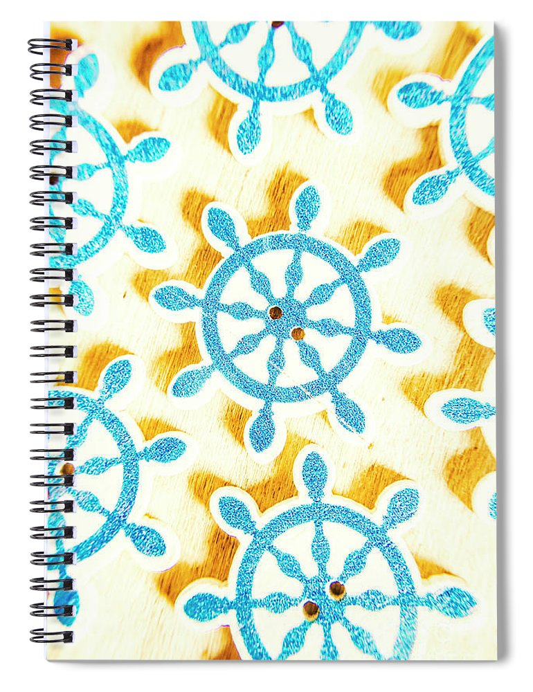 Yacht Spiral Notebook featuring the photograph Ocean Circles by Jorgo Photography - Wall Art Gallery