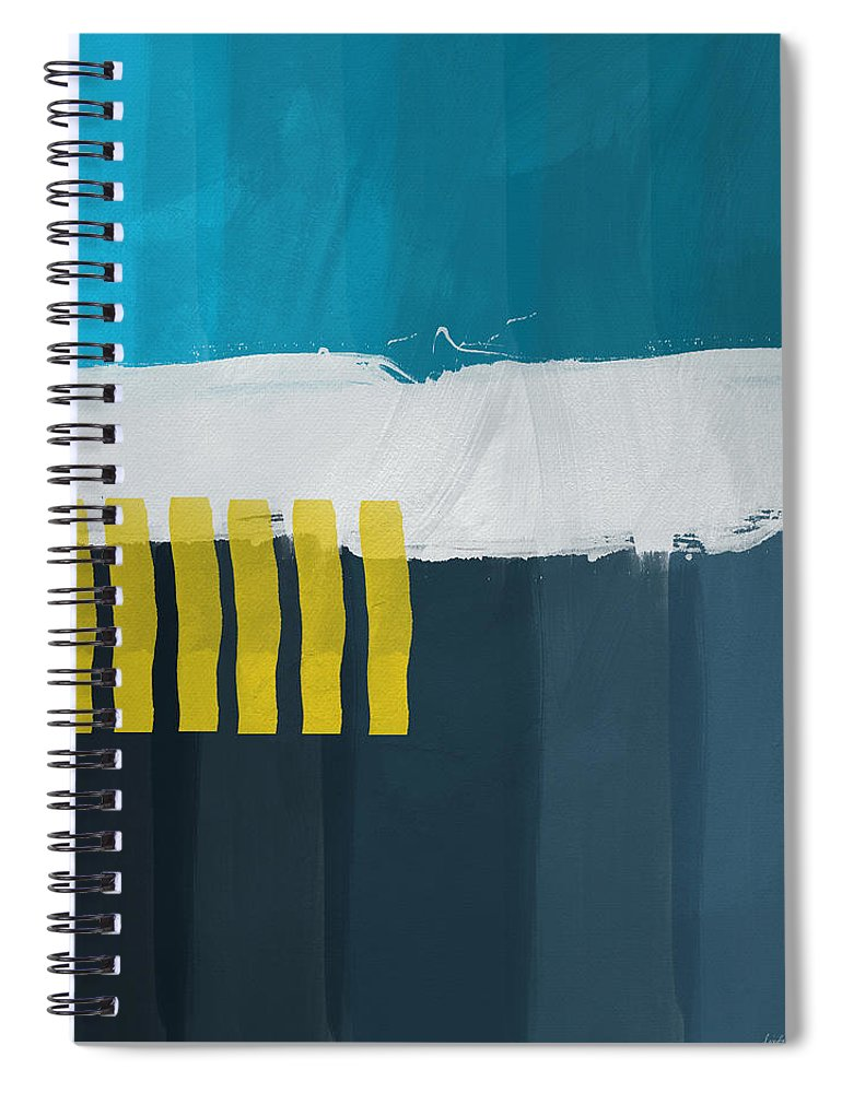 Beach Spiral Notebook featuring the painting Ocean Front Walk 2- Art by Linda Woods by Linda Woods