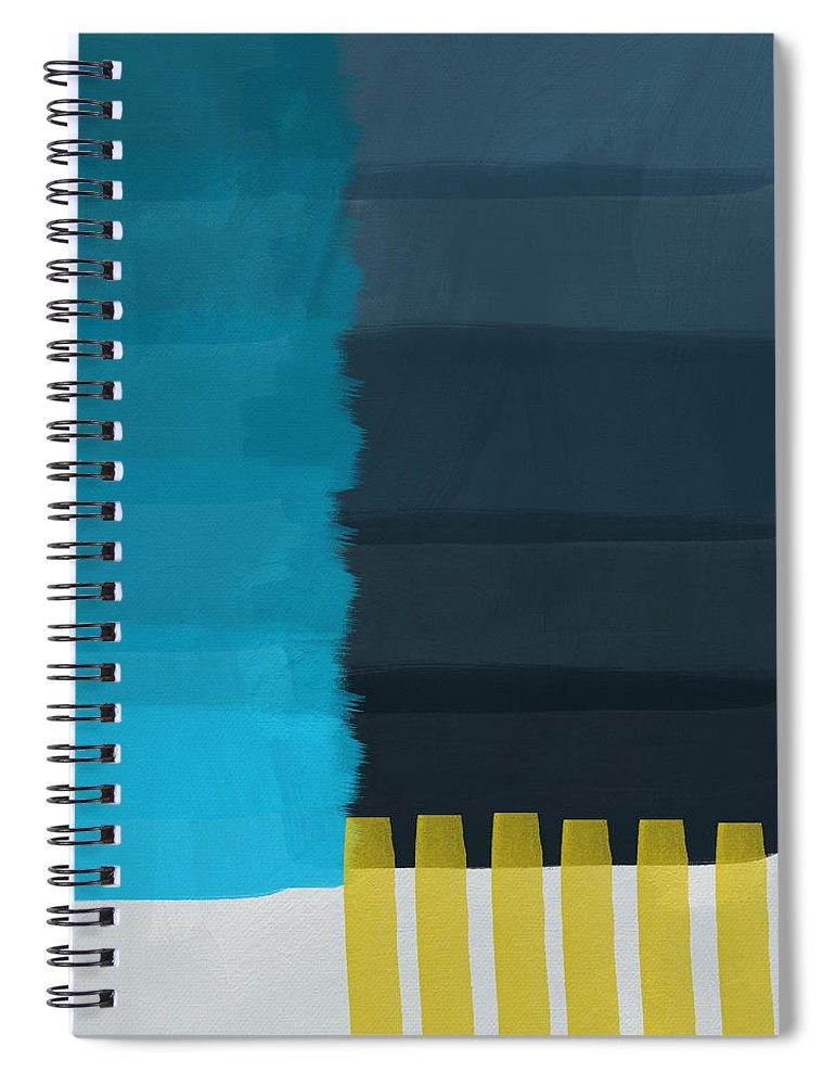 Ocean Spiral Notebook featuring the painting Ocean Front Walk- Art by Linda Woods by Linda Woods