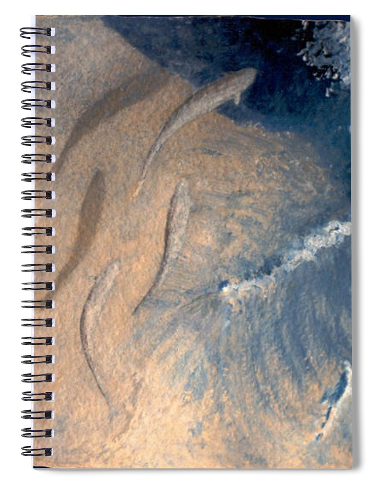 Seascape Spiral Notebook featuring the painting Ocean by Steve Karol