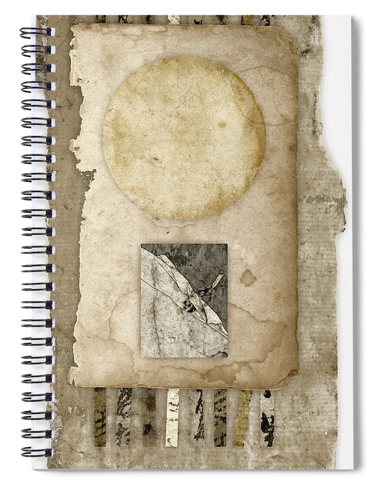 Time Spiral Notebook featuring the photograph Of Time And Paper by Carol Leigh