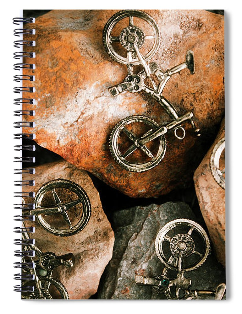 Bike Spiral Notebook featuring the photograph Off-road Cycling by Jorgo Photography - Wall Art Gallery