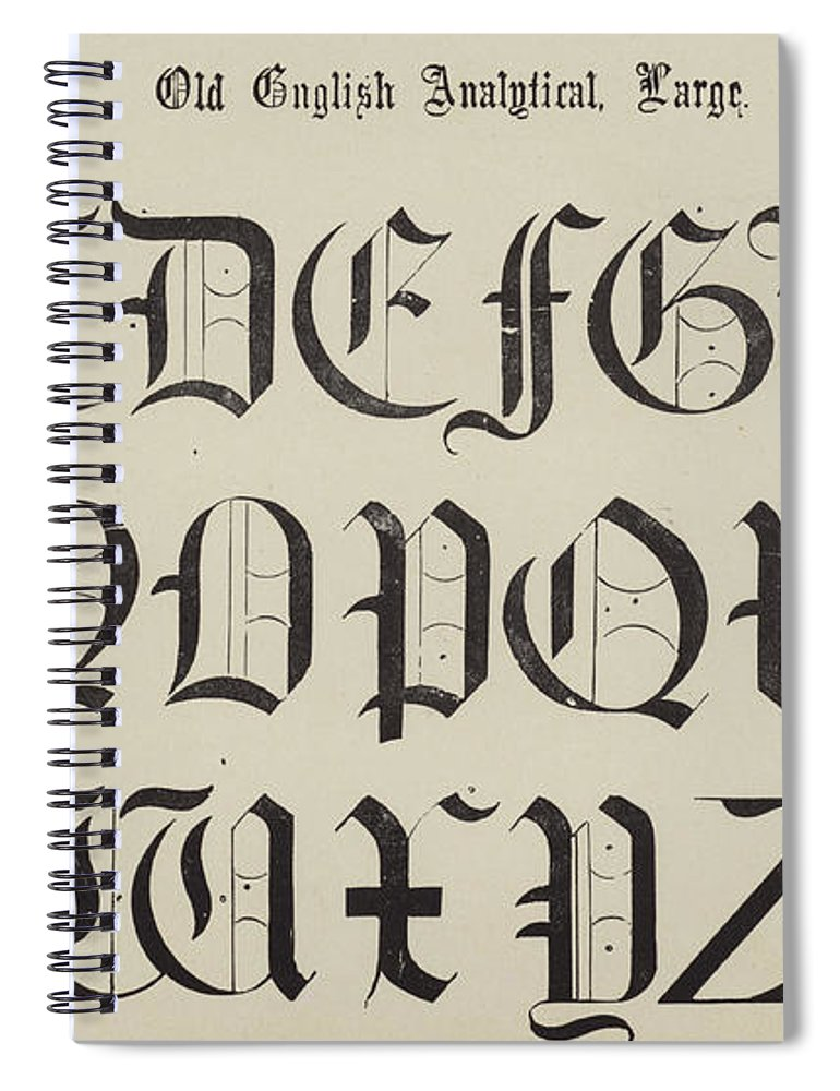 Old English Font Spiral Notebook