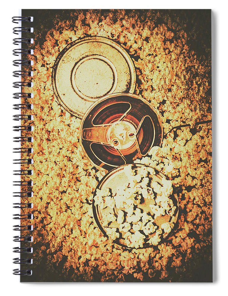 Motion Spiral Notebook featuring the photograph Old Film Festival by Jorgo Photography - Wall Art Gallery