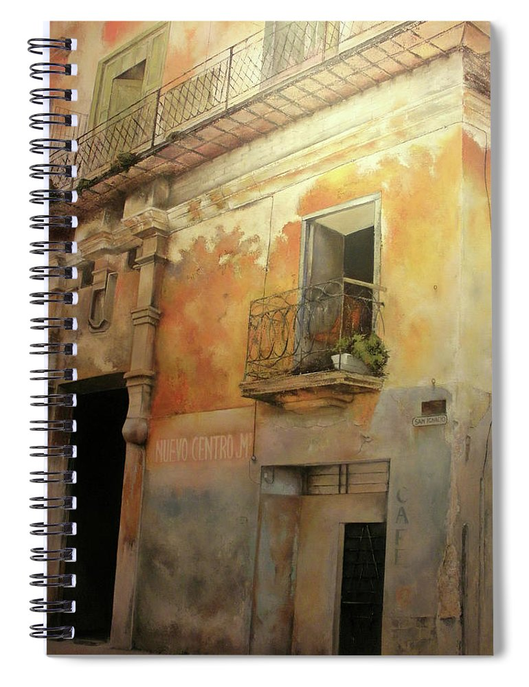 Havana Cuba Spiral Notebook featuring the painting Old Havana by Tomas Castano