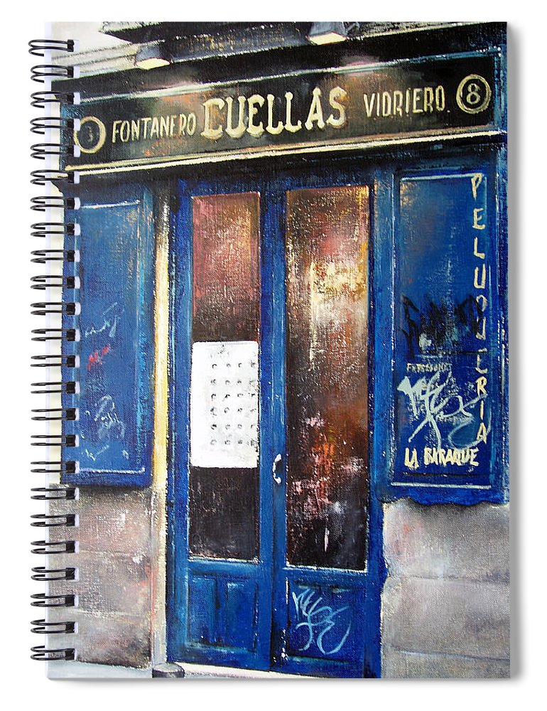 Old Spiral Notebook featuring the painting Old Plumbing-Madrid by Tomas Castano
